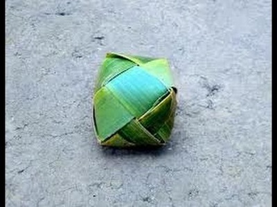 How to make ball by Palm or Coconut Trees Leafe