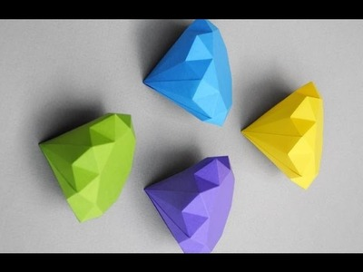 How to make paper diamond simple steps