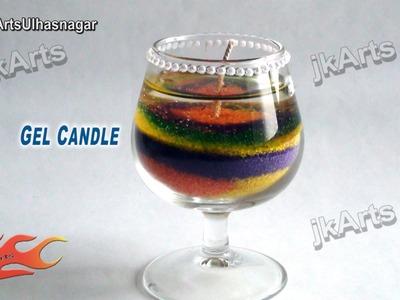 HOW TO: make Sand Art Gel Candle  - JK Arts 486