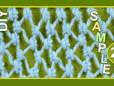 Macrame ABC - pattern sample #22