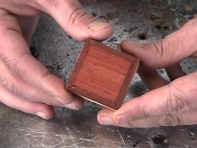 Make an itsy bitsy teeny tiny wood box. and earrings