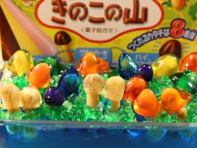 "Meiji Kinoko no Yama making kit reuse""Gummy Chocorooms"""