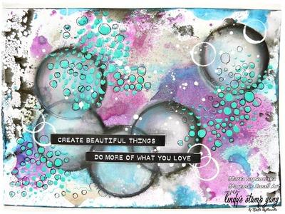 """Mixed media art """"Create beautiful things"""""""