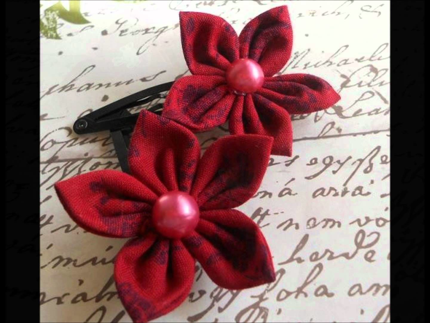 MyCraftLoft Fabric Flower Snap Clip
