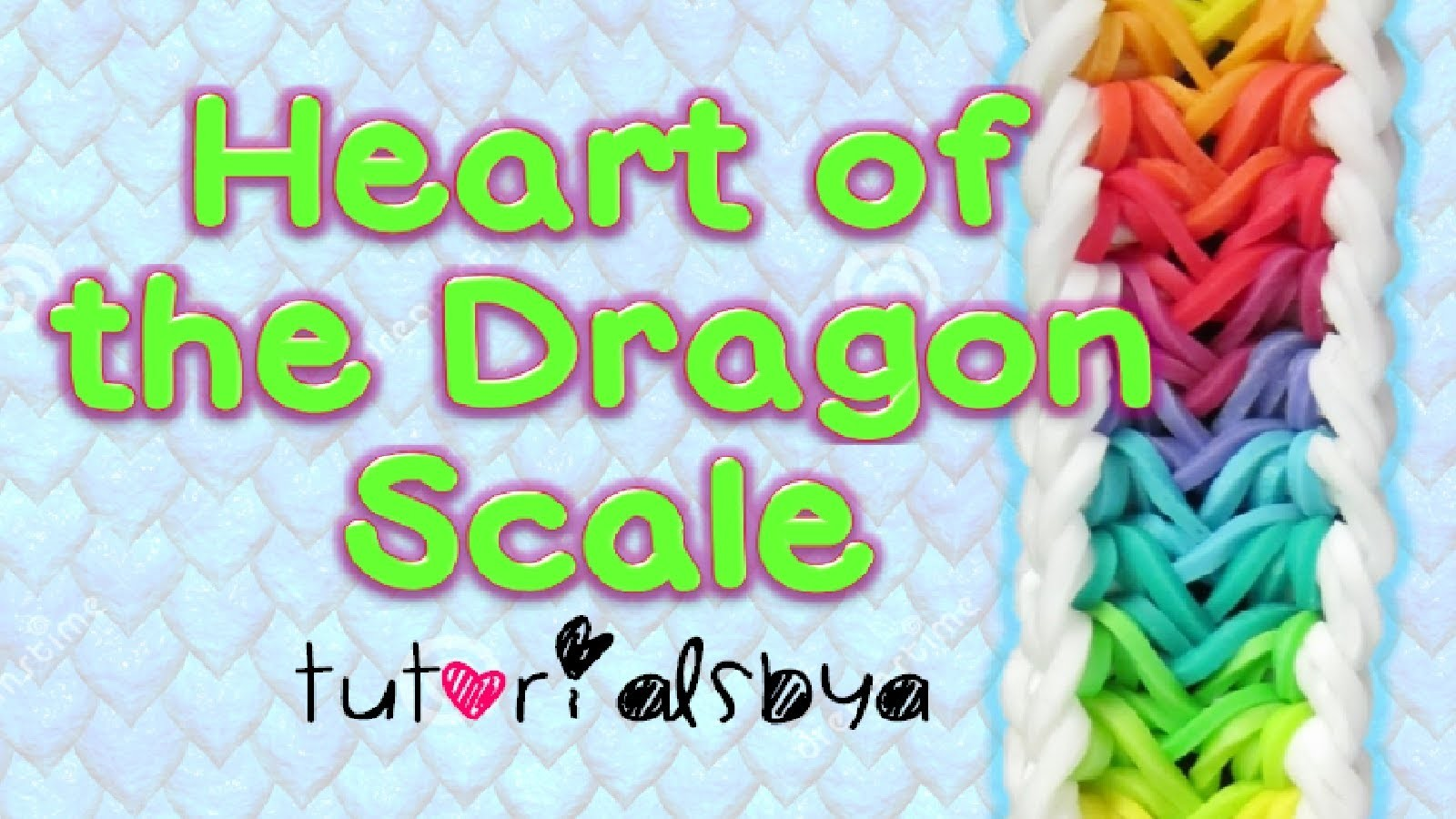 NEW Reversible Heart of the Dragon Scale Bracelet Rainbow Loom Tutorial