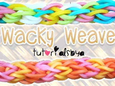 NEW Wacky Weave Rainbow Loom Bracelet Tutorial | How To