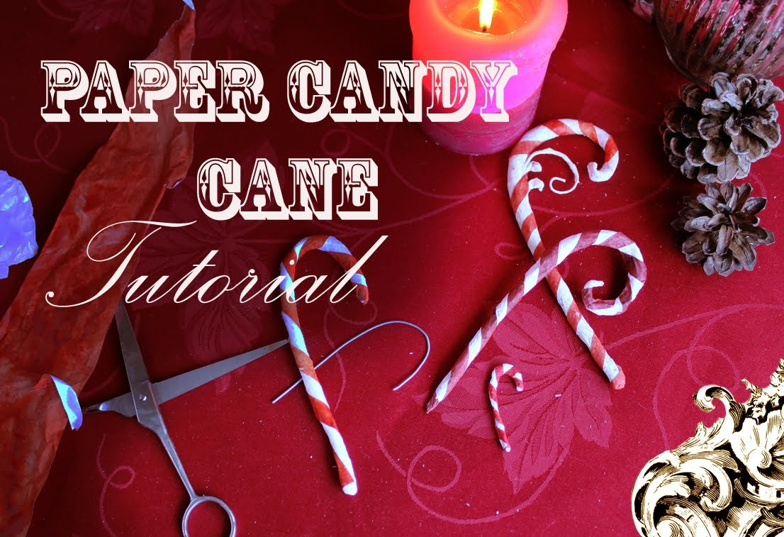 Paper  candy cane tutorial