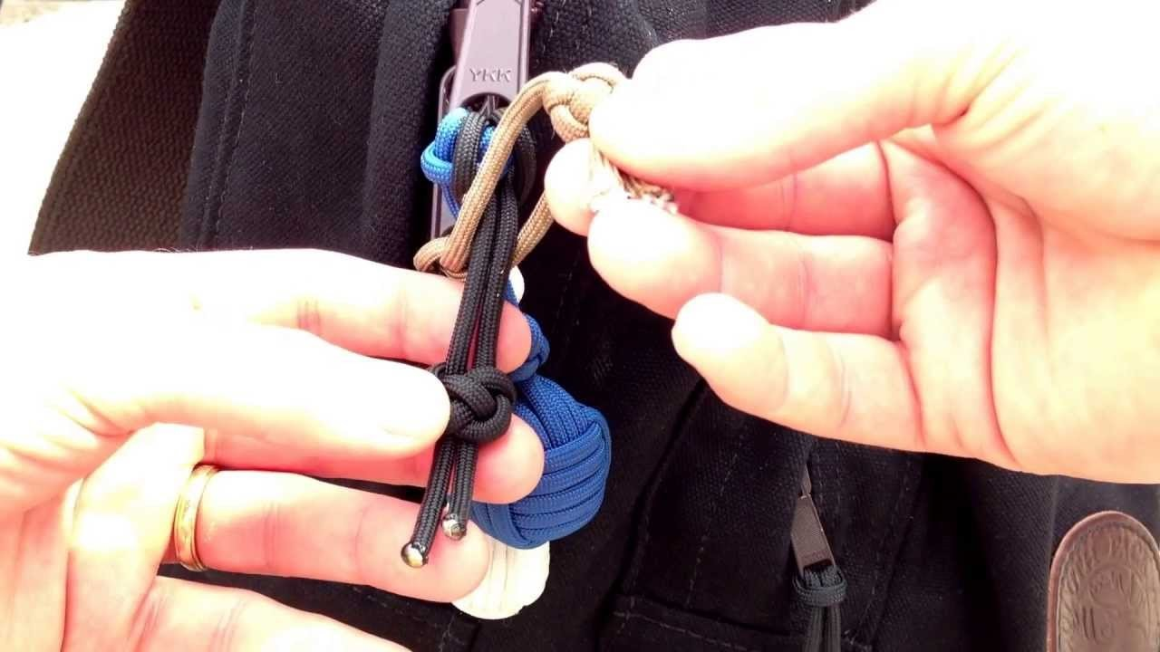 Paracordist How To Use Paracord 550 Cord Diamond Knot Zipper Pulls to Thwart a Pick Pocket