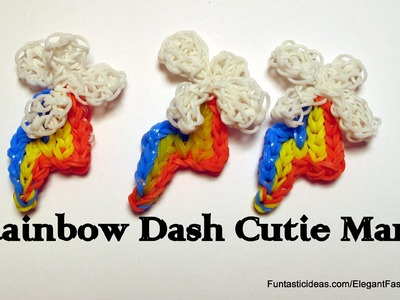 Rainbow Dash Cutie Mark Charm(My Little Pony) - How to Rainbow Loom
