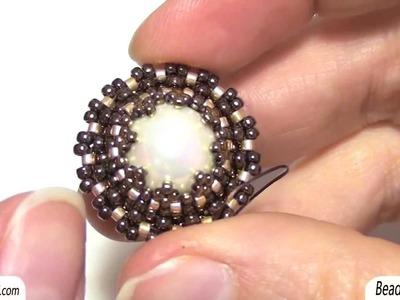 Sarubbest: Come incastonare una perla con perline Rocailles e perline Delica | Tutorial perline