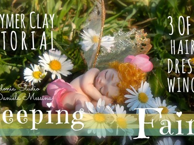 Sleeping Fairy - Polymer Clay Tutorial - Part 3 of 3 - Hair, Dress, Wings