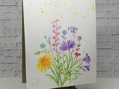 Stamping with Faber Castell Design Memory Craft Gelatos For Blitsy