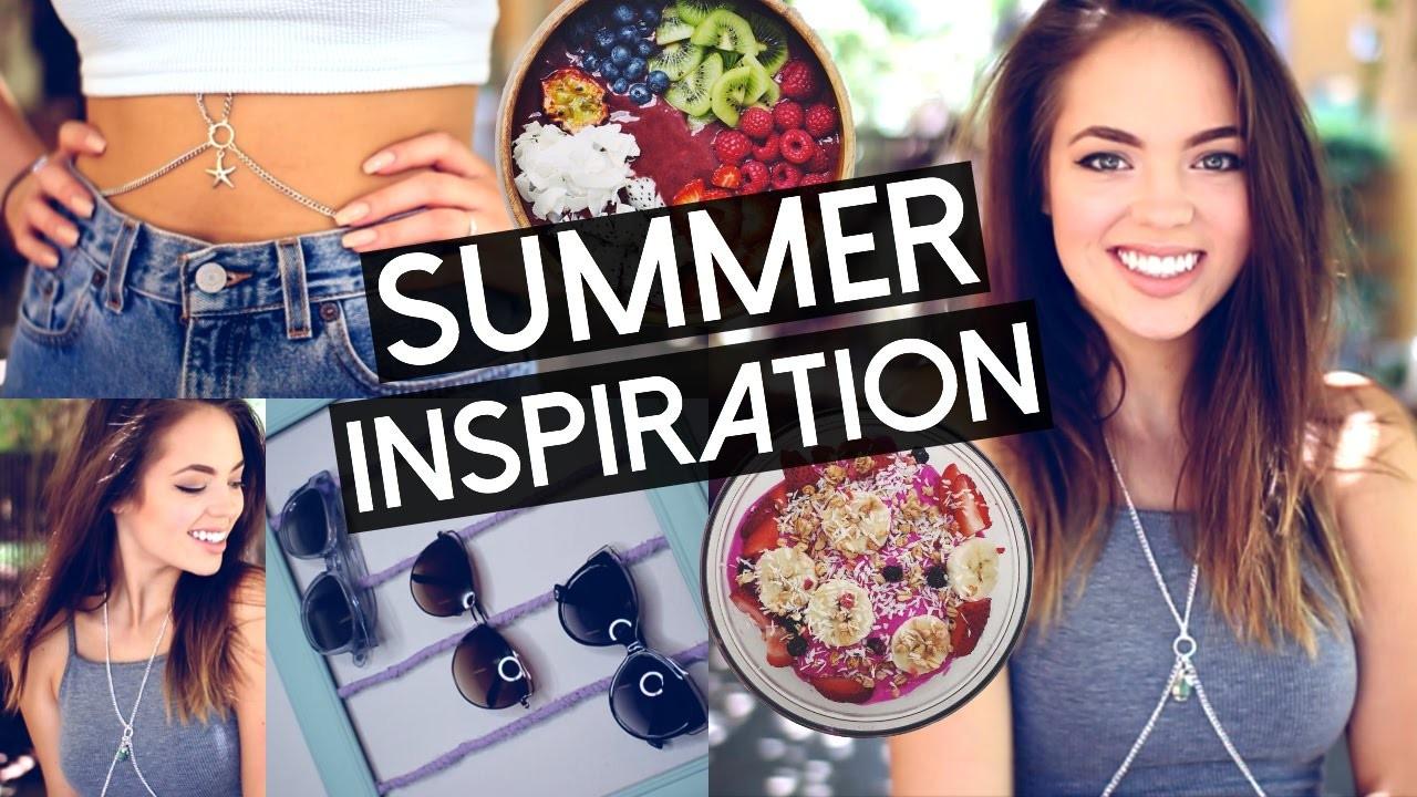 Summer Inspiration: Room Decor, DIY Body Chain, Breakfast & Makeup!