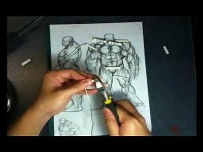 Superhero Action Figure Anatomical Proportion Sculpting Part 1 of X