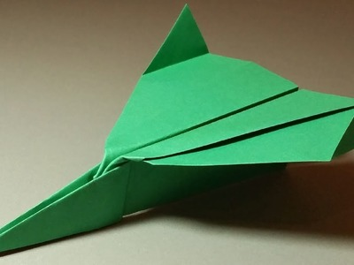 TOUCHING A PAPER AIRPLANE