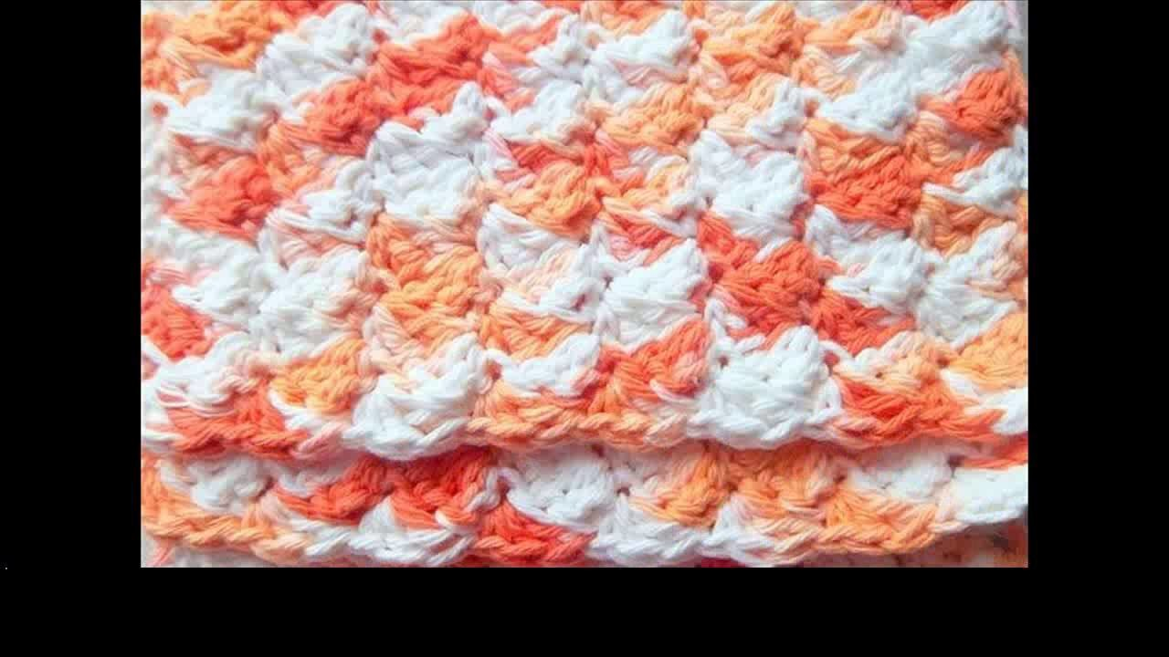 Tunisian crochet dishcloth
