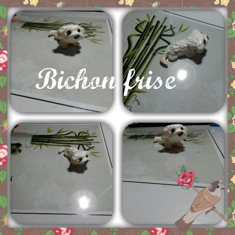 Bichon frise- polymer clay dog tutorial. time lapse