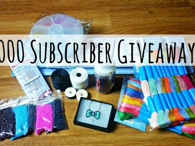 ((CLOSED)) 2000 Subscriber Giveaway!! ¦ The Corner of Craft