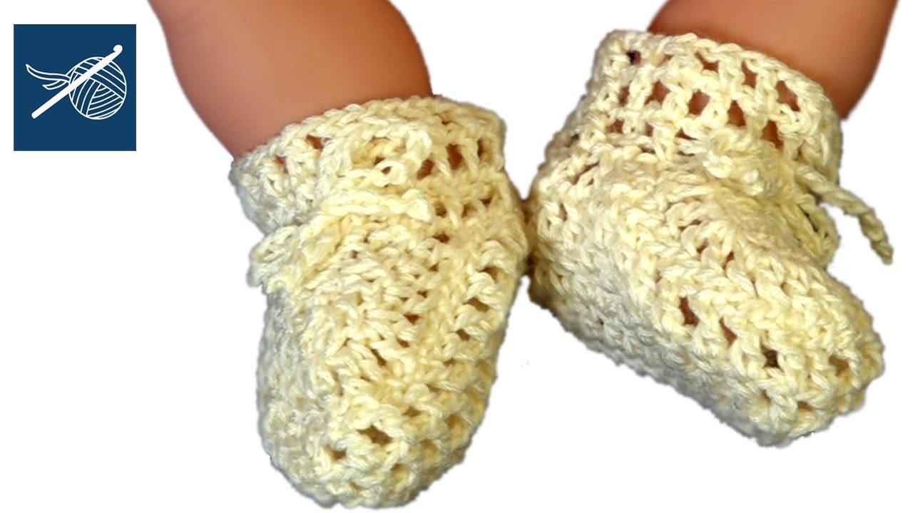 Crochet Baby Bootie Part 5 Left Hand Tutorial