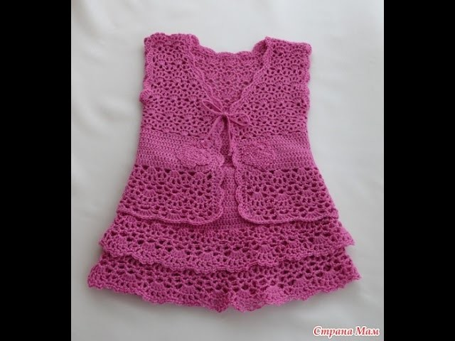 Crochet dress| How to crochet an easy shell stitch baby. girl's dress for beginners 22