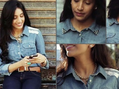 DIY Denim Shirt | 2 ways