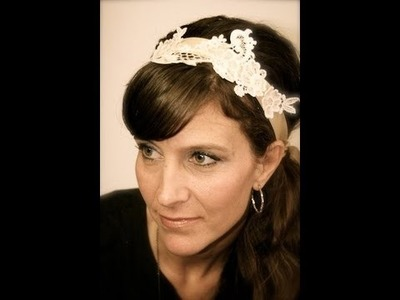 DIY Lace Ribbon Headband | ShowMeCute