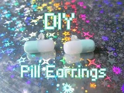 DIY Pastel Goth Pill Earrings