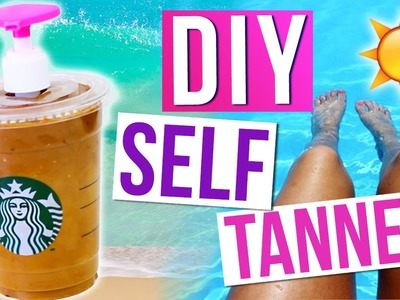 DIY STARBUCKS SELF TANNER - Easy and Inexpensive!