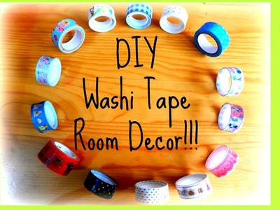DIY Washi Tape Room Decor!!! #1