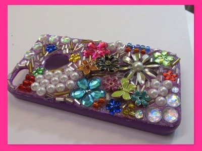 Fab DIY Cell Phone Case Glitter, Jewels, Pearls and Charms How To
