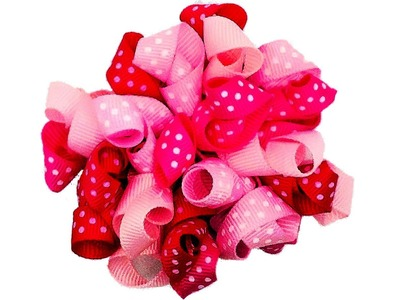 How To Make A Curly Loop Ribbon Hair Bow