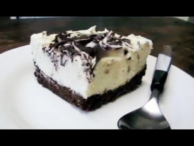 HOW TO MAKE DOUBLE CHOCOLATE CHEESECAKE SLICE