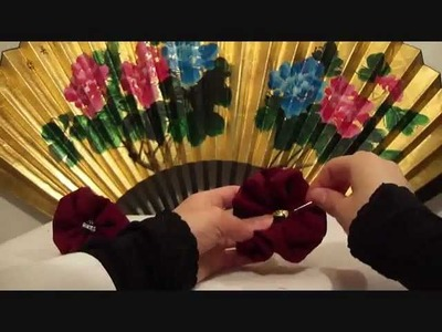 How to Make Gathered Fabric Flowers