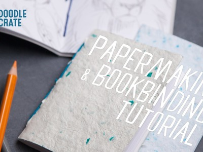 How to Turn Homemade Paper into Personal Notebooks