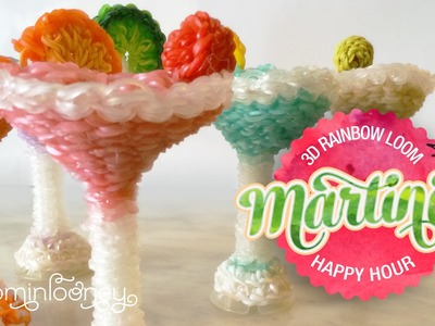 Loom Martinis: 3D Rainbow Loom Cocktail Series