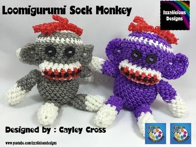 Loomigurumi Sock Monkey - hook only - amigurumi with Rainbow Loom Bands