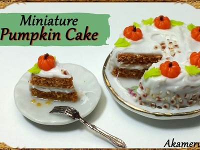 Miniature Pumpkin Cake - Polymer Clay Tutorial