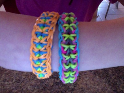 My new rainbow loom bracelet (mirror)