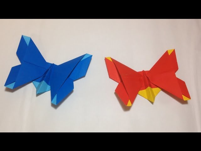 Origami - How to make a simple paper butterfly