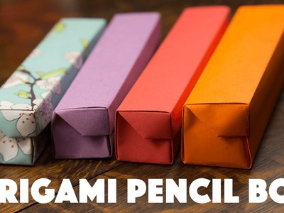 Origami Pencil Box Tutorial