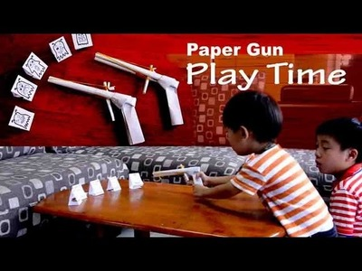 Paper gun can shoots _ play time