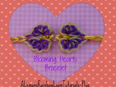 Rainbow Loom (Hook Only) - Blooming Hearts Bracelet (The Hard Way) Part 1 | How To