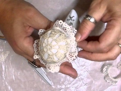 Shabby Chic China Boot Stickpin Holder Tutorial - jennings644