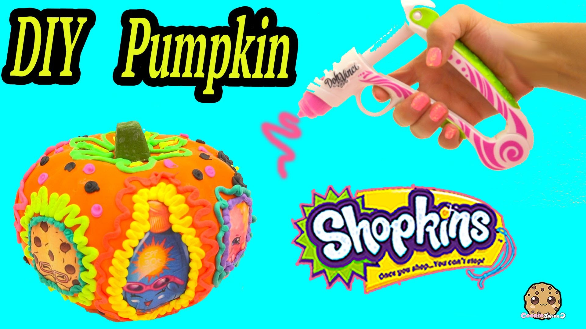 Shopkins Limited Edition Inspired Pumpkin, Playdoh DohVinci DIY Play Doh Vinci Craft Cookieswirlc