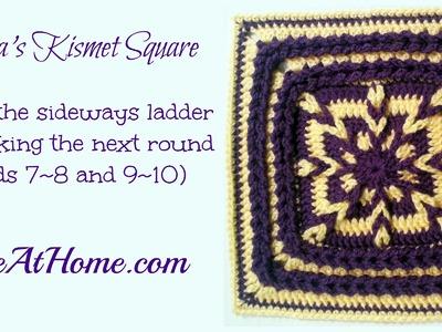 Tamara's Kismet Square looping the sideways ladders