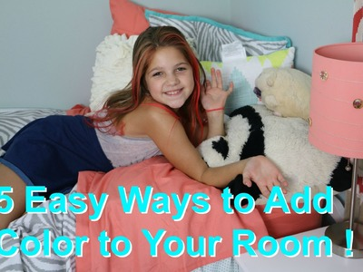 5 DIY Room Decor | Easy Ways to Add Color to Girls Bedrooms | Decorating Kids Room Jazzy Girl Stuff