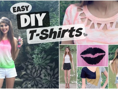 6 Easy T-Shirt DIYs - Decorate, Transform, & Reconstruct T-Shirts