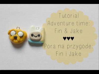 Adventure time Fin & Jake: Polymer clay tutorial ♥ Pora na przygodę Fin i Jake z modeliny