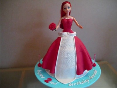 Ariel Disney Princess Doll Cake