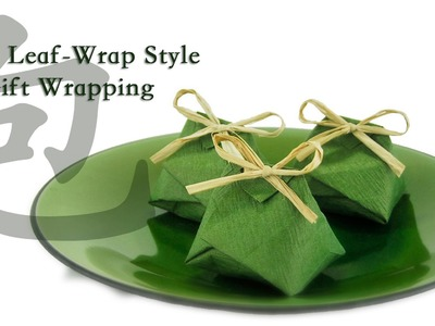 Asian Leaf-Style For Party Favor Gift Wrapping